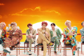 The seven members of K-pop boy band BTS in a still from the second Idol music video, which received more than 10 million views in less than 24 hours.