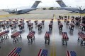 Remains of American soldiers repatriated from North Korea arrive at a US base in Hawaii on August 1. Photo: AFP
