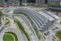 An aerial view of the high-speed rail terminus in West Kowloon. Photo: Roy Issa