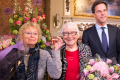 Freddie Dekker-Oversteegen (left), and sister Truus Menger-Oversteegen, are awarded the Mobilisation War Cross medal by Dutch Prime Minister Mark Rutte, a rare honour for civilians. Photo: Dutch Ministry of Defence