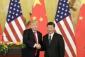 President Donald Trump and Xi Jinping, China's president, in Beijing last year. Photo: Bloomberg.