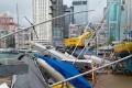 Damaged boats at Hong Kong Yacht Club in Causeway Bay. Photo: Handout