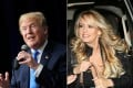 US President Donald Trump (seen left in March) has been slammed for his sexual abilities by porn actress Stormy Daniels (right, also in March) in her new book, reports say. Photos: AFP