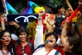 Indian activists celebrate the Supreme Court's repealing of a colonial-era law that criminalised gay sex. Photo: EPA