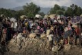 Rohingya refugees fleeing Myanmar arrive at the border of Bangladesh in 2017. War and politics are common factors in mass migration, but soon climate change may be too. Photo: AFP