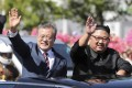 South Korean President Moon Jae-in (left) and North Korean leader Kim Jong-un have made good progress in their efforts to achieve inter-Korean peace. Photo: AP