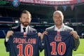 Marc Armstrong, the chief partnerships officer of Paris Saint Germain, together with Alexandre Dreyfus, right, the founder and chief executive of Socios.com. Photo: Handout