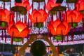 Colourful lanterns are a hallmark of the annual Mid-Autumn Festival. Photo: Sam Tsang