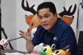 Erick Thohir, head of the Indonesian Asian Games 2018 Organising Committee (INASGOC), speaks to journalists during a press conference in Jakarta in July. Photo: AFP