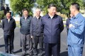 Xi Jinping (second from right) and vice-premier Liu He (third from right) in Liaoning on Thursday. Photo: Xinhua