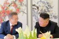 Moon Jae-in and Kim Jong-un demonstrated a rapprochement, but a second Trump-Kim summit may be required. Photo: AFP