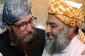 Maulana Samiul Haq (left) talks to Mutahidda Mujlis-e-Amal (MMA) Maulana Fazlur Rehman in Islamabad in 2002. Haq has called for China to help negotiations between Afghanistan and the Taliban. Photo: handout