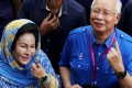 Rosmah Mansor and her husband Najib Razak, the former Malaysian prime minister. Photo: Reuters