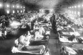 Soldiers with influenza in hospital in Camp Funston, Kansas in 1918. Some of the first cases of the pandemic were recorded here. Photo: Alamy