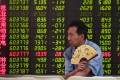 The benchmark Shanghai Composite Index ended at 2,606.9 on Friday, 21.2 per cent shy of its close in 2017. Photo: AFP