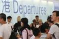 Passengers lining up at departures in Hong Kong International Airport, Chek Lap Kok. Photo: David Wong