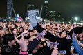 Festivalgoers enjoy Clockenflap 2017 on the Central Harbourfront. The event drew 30,000 music fans a day. Photo: James Wendlinger