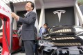 Tesla is building its first factory outside the US in Shanghai, taking advantage of Beijing's abolition of foreign ownership restriction in the auto industry. Photo: AFP