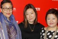(From left) Sophia Siddique, director Sandi Tan and Jasmine Ng at the Sundance Film Festival in Park City, Utah this year. Photo: AFP