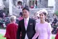 JD.com chairman Richard Liu Qiangdong and wife Zhang Zetian at Princess Eugenie's wedding. Photo: YouTube (screen grab)