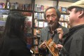 Author Ma Jian at a book-signing event in Britain. Photo: Twitter