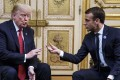 US President Donald Trump and French President Emmanuel Macron at the Elysee palace in Paris. Photo: EPA