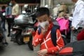 Parents complained that children in Xiaocuo were being exposed to toxic air but were being told to continue to come to class. Photo: Xiaomei Chen