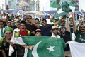 Pakistan cricket fans at The Oval in England. Photo: Reuters