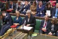 Britain's Prime Minister Theresa May in the House of Commons on Thursday. Photo: Handout