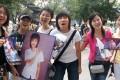 Fans in Beijing campaign for Super Girl contestant Li Yuchun. Picture: Alice Yan.