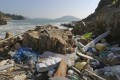 Marine plastic debris, both local and foreign, constantly besieges Hong Kong's coastlines, including Big Wave Bay in Shek O. Photo: Xiaomei Chen