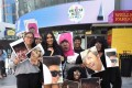 BTS fans, better known as ARMY, hold photos of their favourite BTS members in front of the Microsoft Theater in Los Angeles last year for the American Music Awards. Some overseas fans of the K-pop band have made donations to Korean survivors of wartime sexual slavery, known as 'comfort women'. Photo: AFP-Yonhap