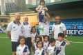 Alan Shearer (back row, far left) and the youth footballers and team of Wallsend Boys Club Hong Kong. Photo: Wallsend Boys Club Hong Kong