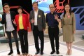 By-election candidates, from left to right: Ng Dick-hay; Judy Tzeng Li-wen; Lee Cheuk-yan; Frederick Fung Kin-kee; and Chan Hoi-yan, at the Kowloon West by-election television forum at RTHK in Kowloon Tong. Photo: Dickson Lee