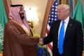 A file photo taken on May 20, 2017, shows US President Donald Trump (right) and Saudi Crown Prince Mohammed bin Salman in Riyadh. Photo: Agence France-Presse