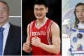 From left: the list includes Legend Holdings chairman Liu Chuanzhi, basketball star Yao Ming and Chinese astronaut Jing Haipeng. Photo: Handout