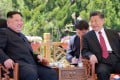 Chinese President Xi Jinping and North Korean leader Kim Jong-un have met three times this year to discuss bilateral affairs. Delegates from Pyongyang at the International Finance Forum in Guangzhou spoke of North Korea's desire to follow the Chinese model of development. Photo: AP