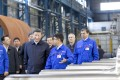 """President Xi Jinping visits a workshop of China First Heavy Industries in Qiqihar, Heilongjiang province. Is the Chinese economy overleveraged? A large part of China's high credit-to-GDP ratio is actually """"credit"""" extended to state-owned enterprises. Such """"credit"""" should be reclassified as Beijing's fiscal outlays. Photo: Xinhua"""