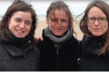 Tine Nys (centre), with her two sisters, in a family photo provided to the Belgian TV show Terzake. Photo: Terzake