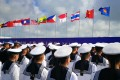 Sailors line up for the first China-Asean naval exercises in Zhanjiang, Guangdong province, on Monday October 22. The drills were seen as a demonstration of Southeast Asian nations' desire for improved ties with China. Photo: Weibo