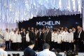 Khun Gee and Michelin star winners on stage at the Michelin Star Revelation 2019, in Bangkok, Thailand. Picture: EPA