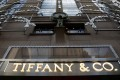 The flagship New York store of Tiffany & Co., the luxury jewellery and goods retailer, which says a fall in the number of Chinese tourists buying goods in its stores contributed to the drop in its third-quarter profits. Photo: Reuters