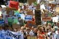 Schoolchildren protesting in Sydney against the government's inaction on climate change. Photo: Reuters