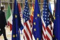 China and the EU could end 2018 with almost no positive record of successful cooperation in international organisations, Mathieu Duchatel writes. Pictured: US and European Union flags at EU headquarters in Brussels. Photo: AFP