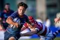 HK Scottish scrum half James Christie scored a highlight-reel try, running 50 metres to help his team beat Kerry Hotel Kowloon 45-13. Photos: HKRU
