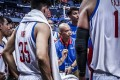 Philippines coach Yeng Guiao gives out instructions against Kazakhstan. Photo: Fiba