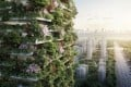 An artist's impression of Nanjing Green Towers. The project will be the third of Italian architect Stefano Boeri's vertical forest prototypes, and the first for Asia. Photo: Handout