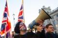 Demonstrators at a 'Brexit Betrayal Rally' in London. Photo: Xinhua