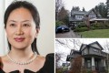 Huawei CFO Sabrina Meng Wanzhou and her two Vancouver homes, which are in the name of husband Liu Xiaozong. The homes in the expensive neighbourhoods of Shaughnessy (top right) and Dunbar (bottom right) are worth C$16.3 million and C$5.6 million respectively. Photos: Ian Young and Huawei handout