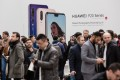 A Huawei smartphone unveiling event in Paris, France, in March 2018. Photo: Bloomberg